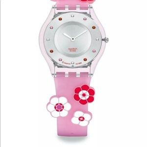 Limited edition skins floral swatch watch